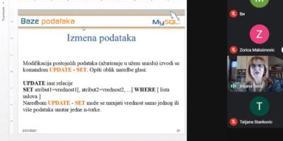Naša profesorka na seminaru Društva matematičara Srbije