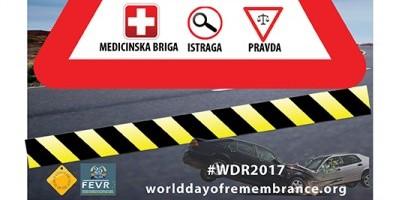 Obeležavanje Dana sećanja na žrtve saobraćajnih nezgoda