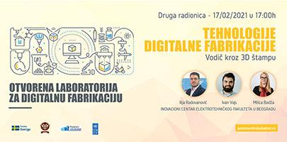 Nastavak obuke Tehnologije digitalne fabrikacije