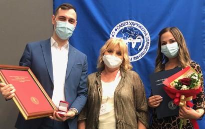Naš nastavnik i studenti dobitnici nagrade Saveza udruženja zdravstvenih radnika