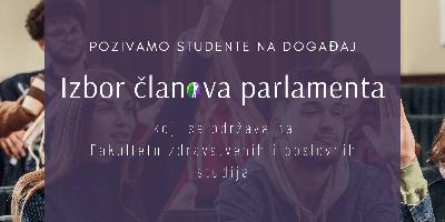 Izbor predstavnika Studentskog parlamenta i predavanja profesora